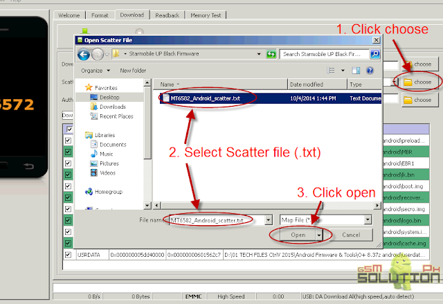 SP flash tool choose scatter