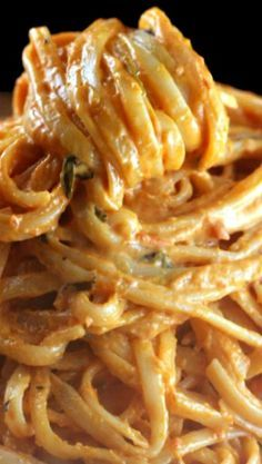 Creamy Tomato Alfredo Linguine #recipes #foodandrecipes #food #foodporn #healthy #yummy #instafood #foodie #delicious #dinner #breakfast #dessert #yum #lunch #vegan #cake #eatclean #homemade #diet #healthyfood #cleaneating #foodstagram