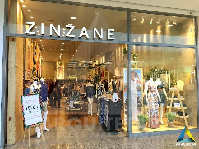 projeto fachada loja feminina zinzane barrashopping