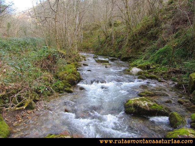 Ruta Pico Vízcares: Puente sobre el río Infierno en el Muñizón