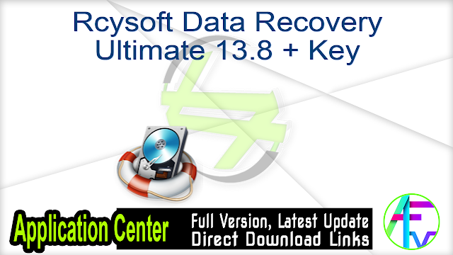 Rcysoft Data Recovery Ultimate 13.8 + Key