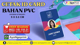 Cetak ID Card PVC Online Murah dan Cepat