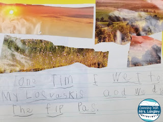 This blog post has free kindergarten writing activities using paper and old calendars for inspiration! Students don't need prompts they just need some ideas to get the sentences flowing! This post reviews how students can practice their writing skills with a fun twist. #kindergartenclassroom #writinglessons