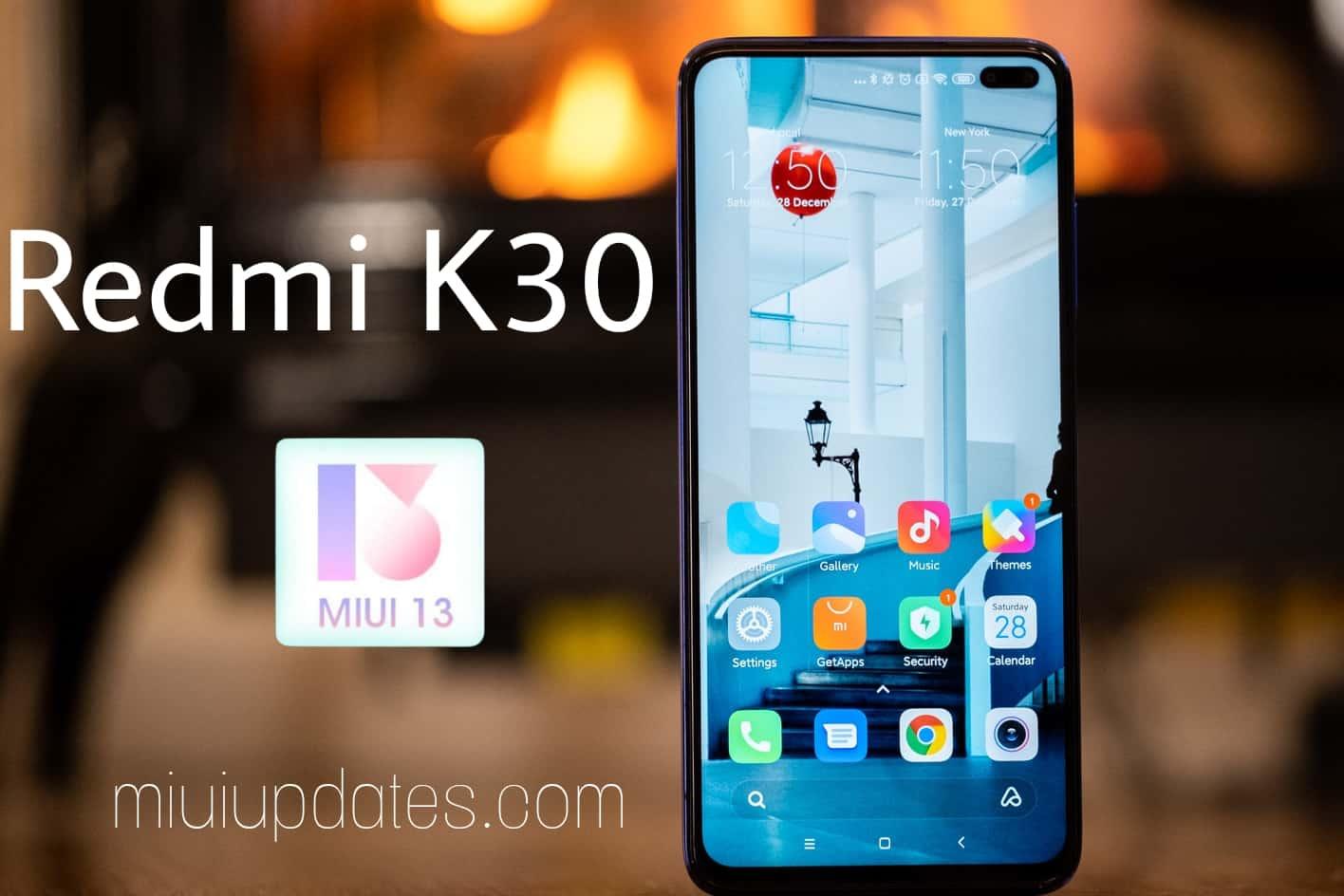 Redmi K30 MIUI 13 Update