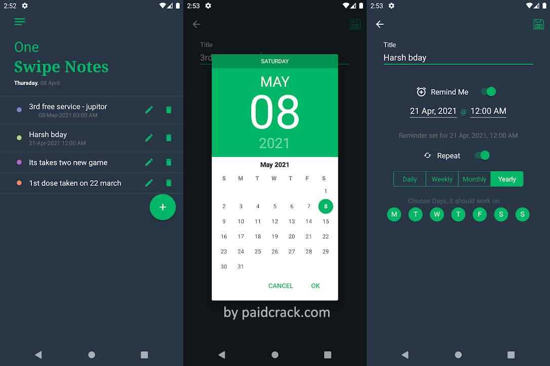 One Swipe Notes - Gesture Notes Paid Mod Apk 1.8