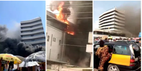 Fire outbreak at Ghana Commercial Bank (GCB ) office at Kantamanto [video]