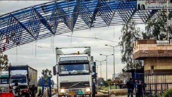 مسؤول أردني..5 آلاف شاحنة جاهزة لنقل البضائع مع سوريا