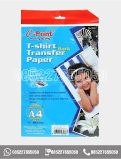 Kertas Transfer Paper Dark T-Shirt A4, alat tulis sekolah, 0852-2765-5050