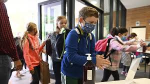 Masks the subject as coronavirus-wary schools reopen across Europe