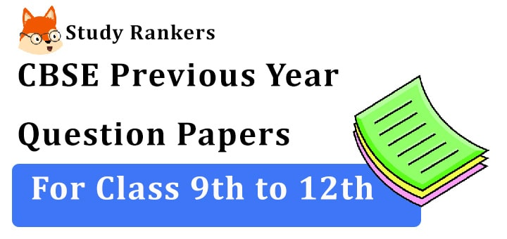 CBSE Previous Year Question Papers