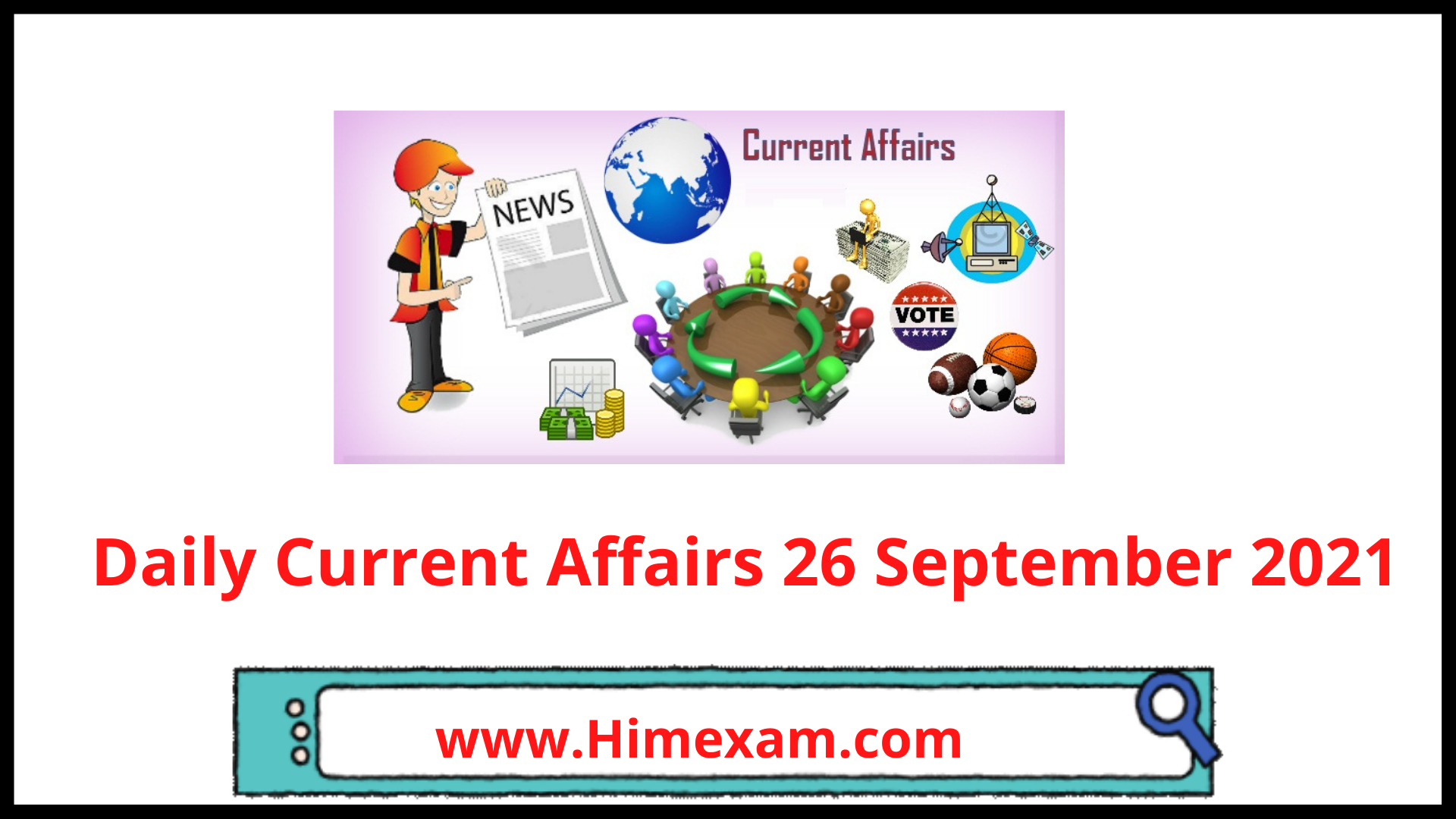 Daily Current Affairs 26 September 2021