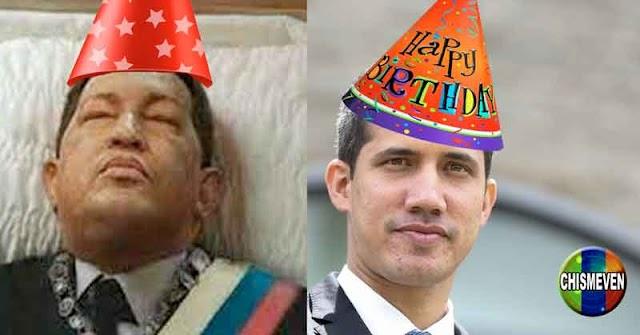 BRUJERÍA   Sabías que Juan Guaidó y el Mortadelo Chavez cumplen años el mismo día?