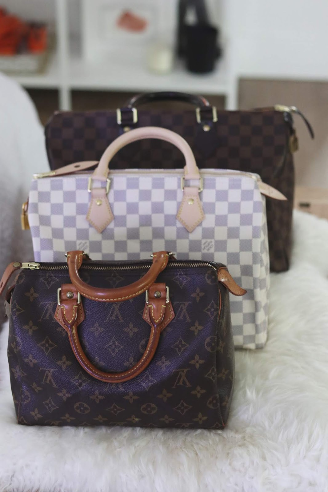 Louis Vuitton speedy comparison