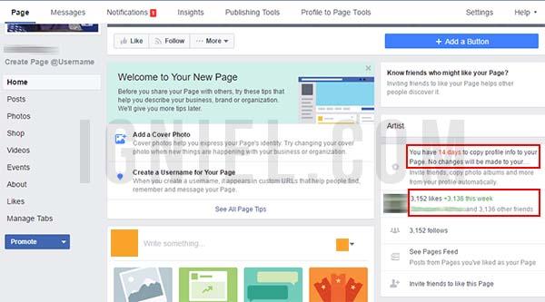 Cara Merubah Profil Facebook Menjadi Fan Page