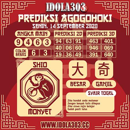 Prediksi Idola303 HK Senin 14 September 2020