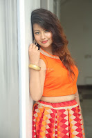 Shubhangi Bant in Orange Lehenga Choli Stunning Beauty ~  Exclusive Celebrities Galleries 021.JPG