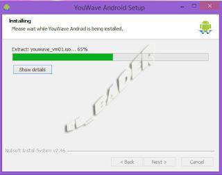 برنامج يو ويف اثناء التنزيل YouWave while installing