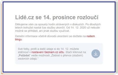 Lidé.cz končí 14. prosince 2020