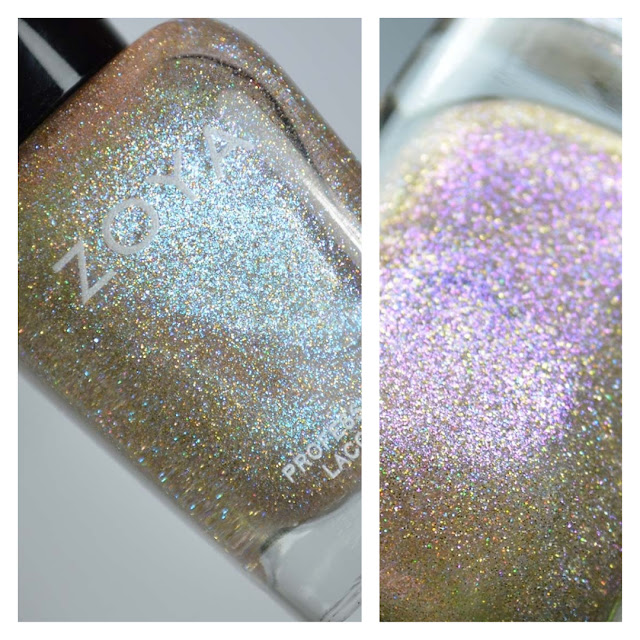 silver holographic nail polish with shimmer
