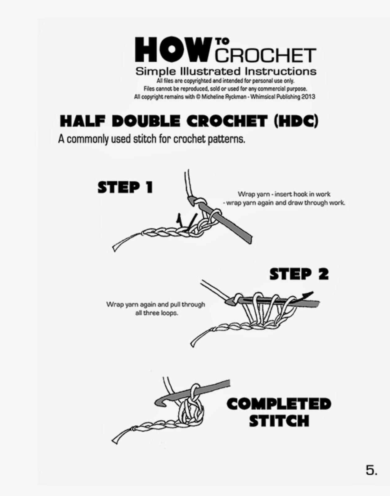 laura's frayed knot: crochet hat class handouts
