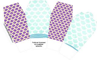 Sirenas: Cajas para Imprimir Gratis.