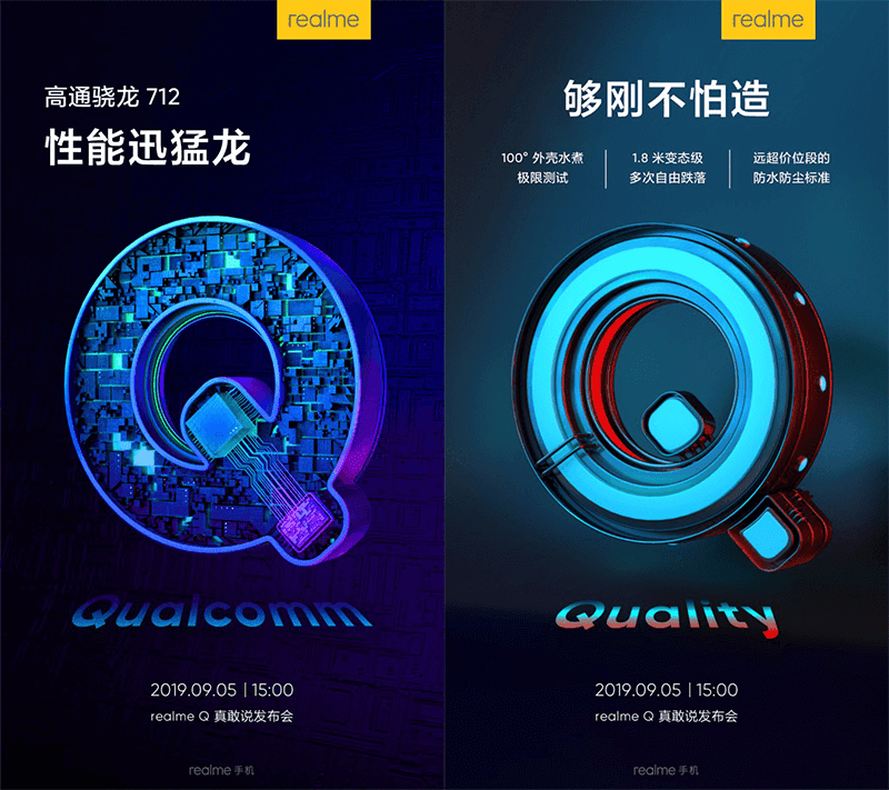 Realme Q teased with water resistance
