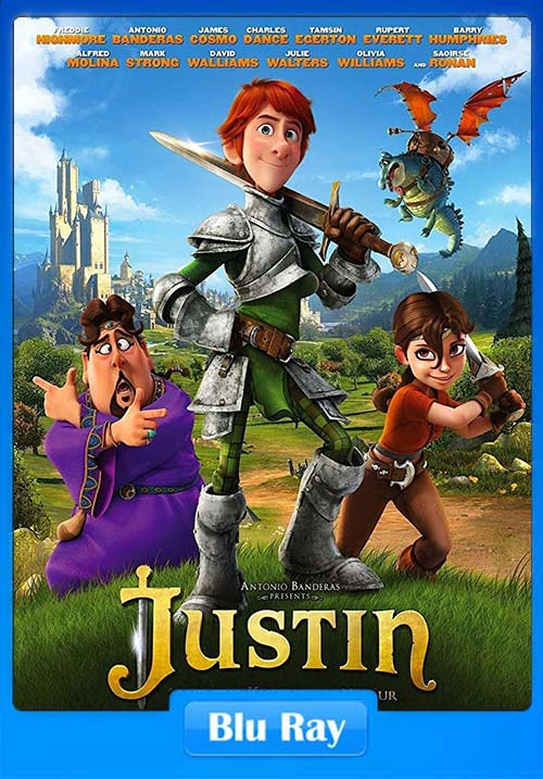 Justin and the Knights of Valour 2013 Dual Audio Hindi 720p BluRay ESubs x264 | 480p 300MB | 100MB HEVC