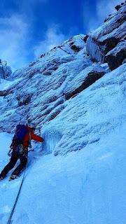 Ron winter climbing on Cnap Coire na Spreidhe Cairngorms
