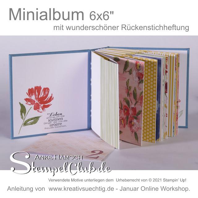 Minialbum mit 12 Taschen innen