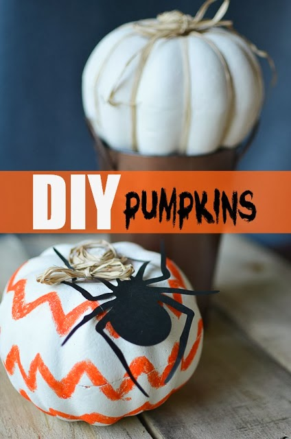 dollar store craft painted pumpkins