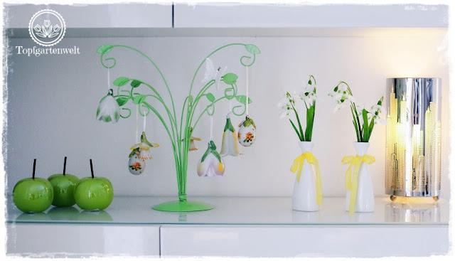 Gartenblog Topfgartenwelt Deko: Ideen zu Frühling und Ostern für ein Sideboard
