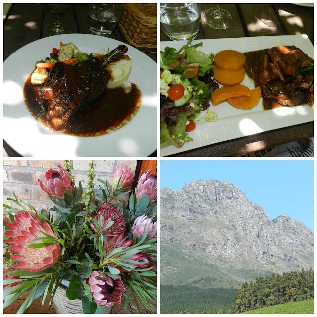 Almoço na vinícola Delheim (Stellenbosch, África do Sul)