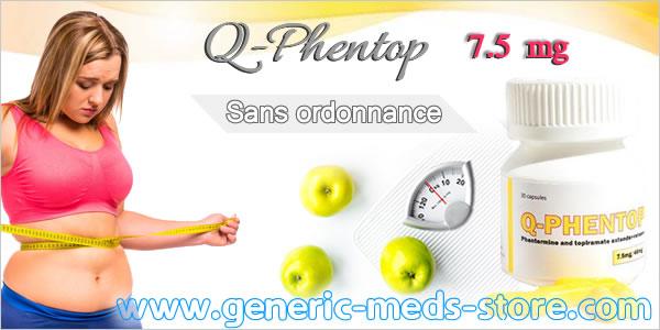 Q-Phentop 7.5 mg (Qsymia) sans ordonnance pour maigrir efficacement sur www.generic-meds-store.com
