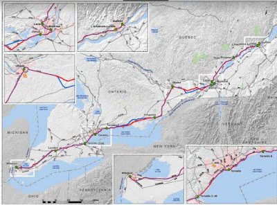 2011 Windsor Quebec City High Speed Rail Map