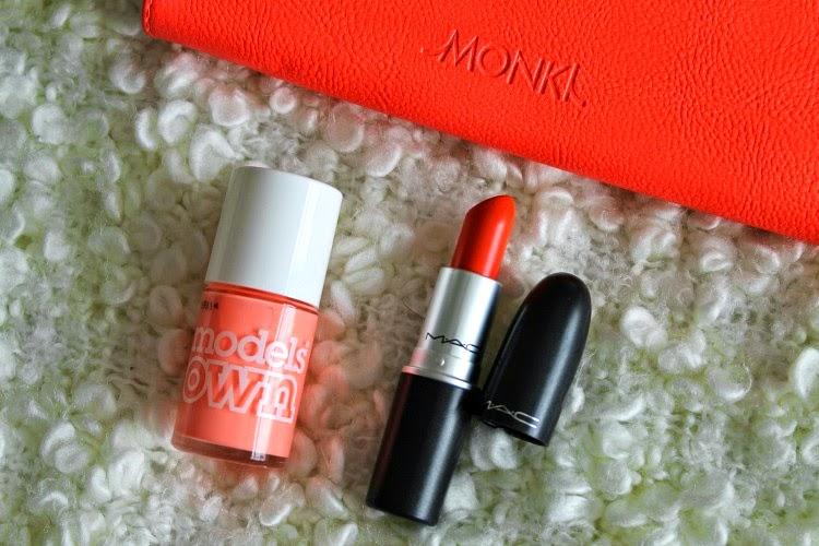 Models Own Beach Bag Nail Polish, Mac Morange Lipstick