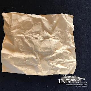 The first unfolding of the wadded paper | Nature's INKspirations by Angie McKenzie
