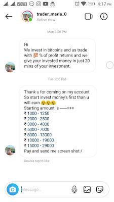 Instagram Trading Scam