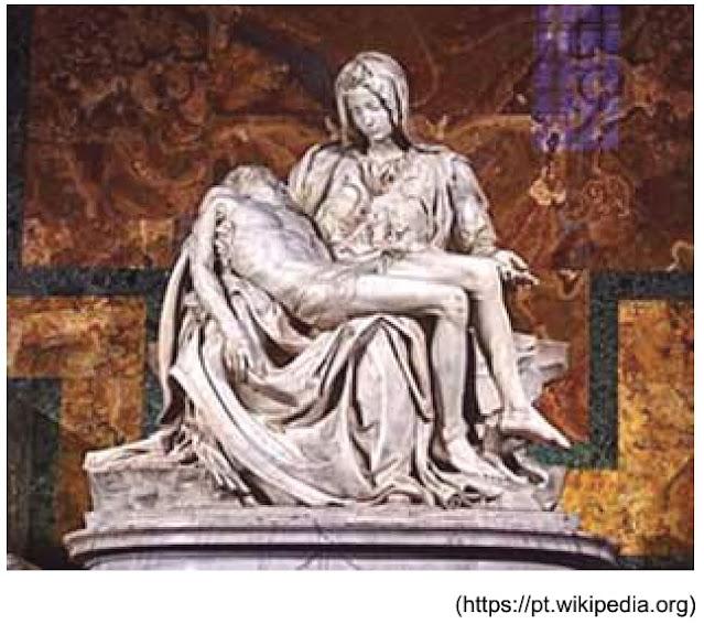 UNESP 2021: A Pietà, escultura de Michelangelo Buonarotti, foi produzida nos últimos anos do século XV e revela uma característica importante da arte renascentista