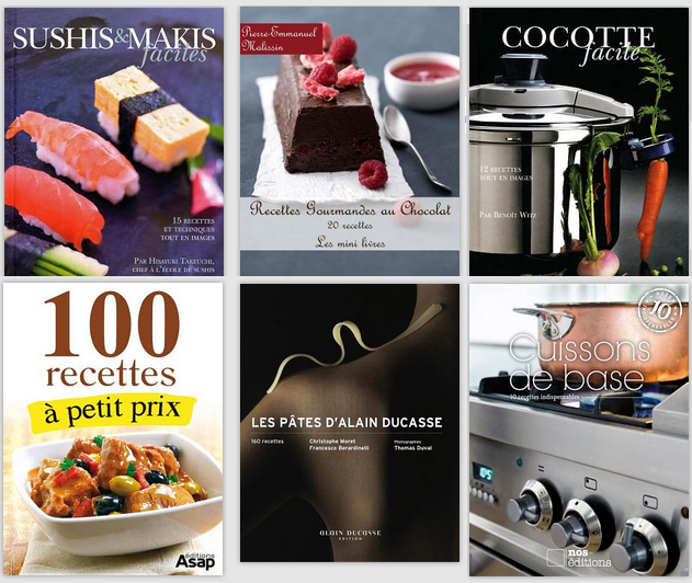 Livres de cuisines gratuits à télécharger sur Google Play