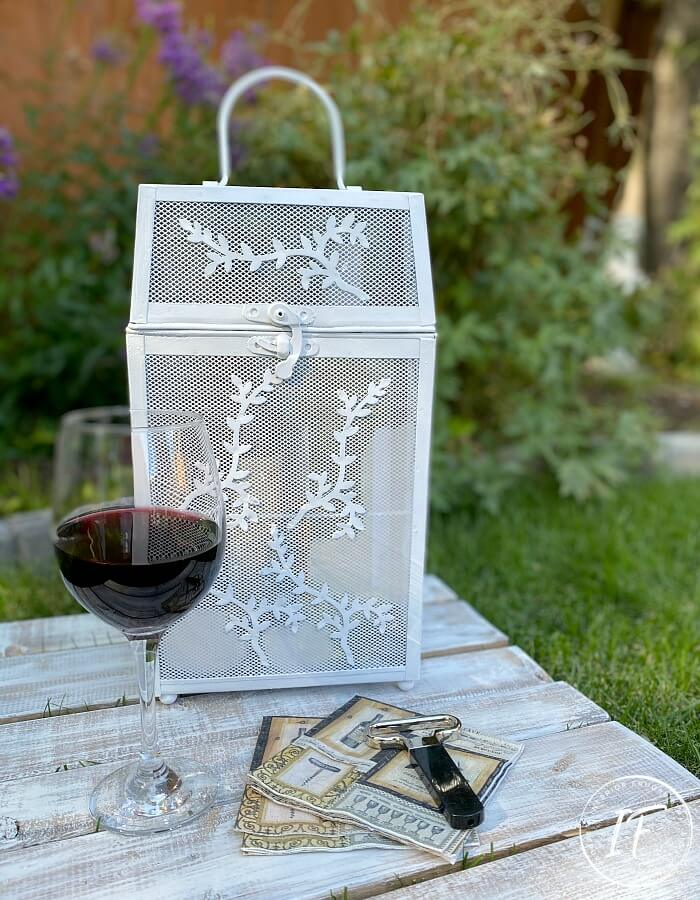 Upcycled Wine Bottle Holder