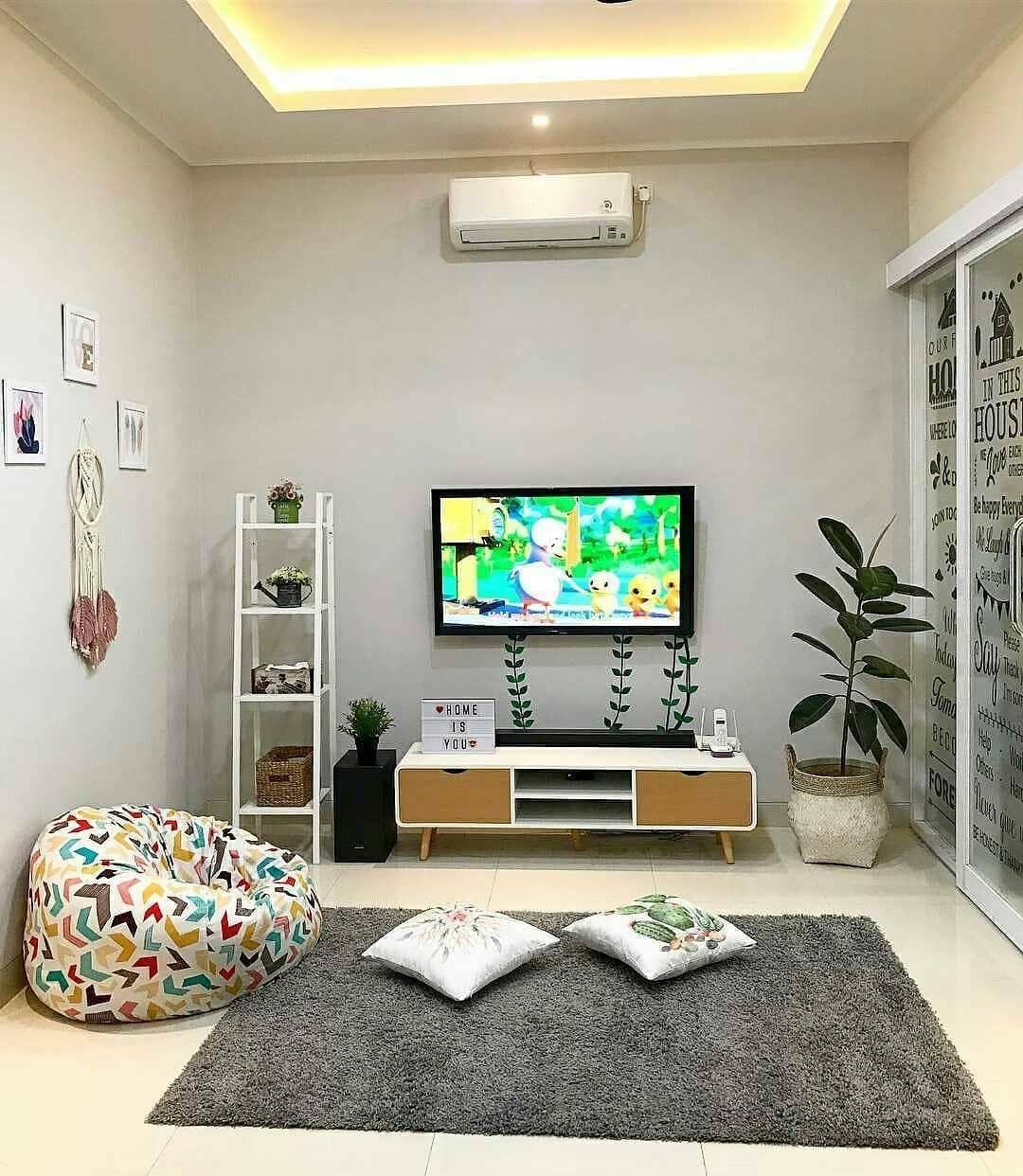 Desain Ruang Tv Sederhana Tanpa Sofa Selonjoran Santuy Bang Izal Toy