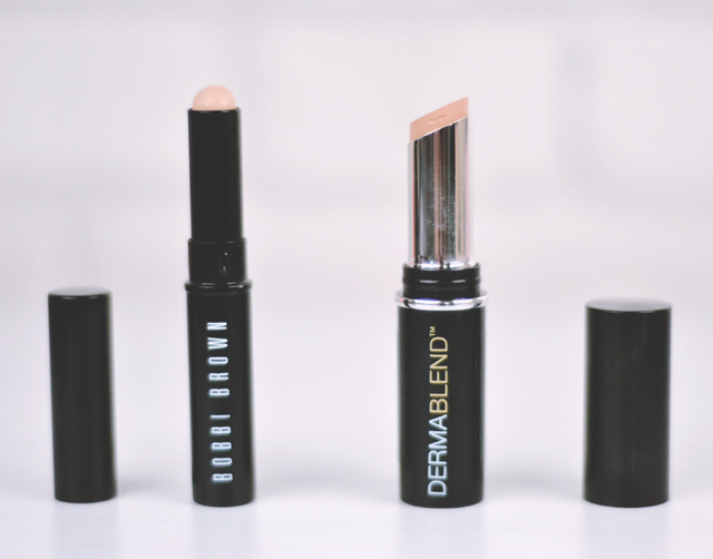 Bobbi Brown vs Dermablend Corrective Stick Concealer