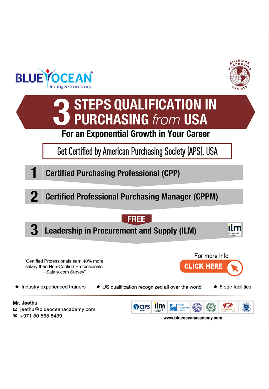Blue ocean academy get certified by american purchasing society aps usa xflitez Image collections