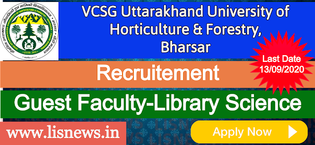 Guest Faculty-Library Science at VCSG Uttarakhand University of Horticulture & Forestry, Bharsar