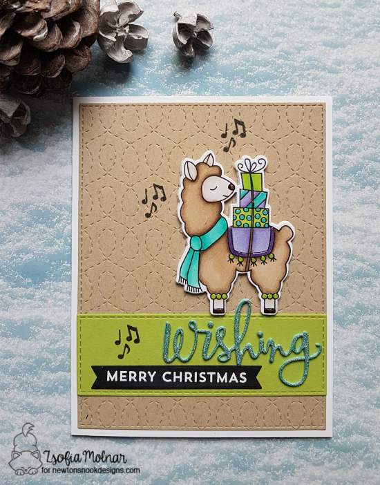 Wishing Merry Christmas by Zsofia features Llama Delivery by Newton's Nook Designs; #newtonsnook