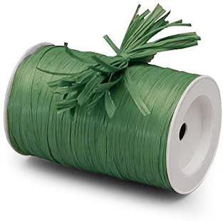 Best Green Raffia Ribbon For Gift Wrap Craft Packaging and Decoration