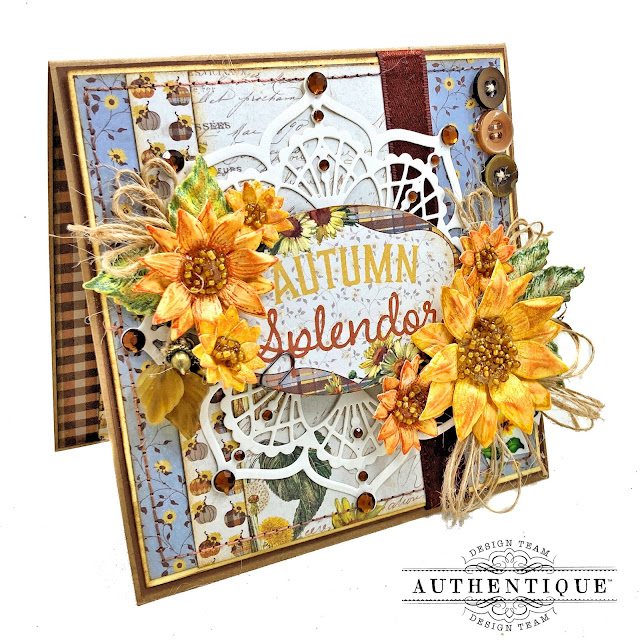 Sunflower Card with Really Reaonable Ribbon by Kathy Clement