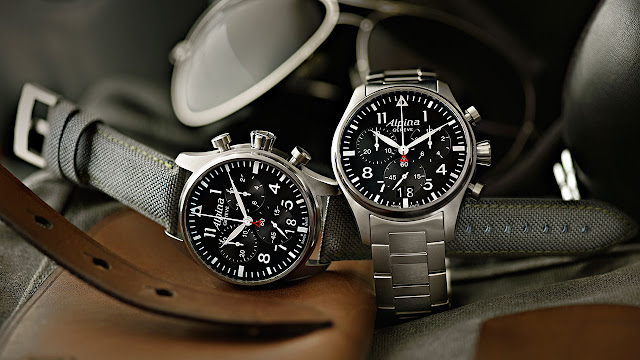 The new Alpina StarTimer Pilot Chrono Big Date steel