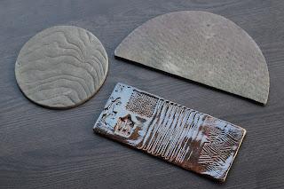 陶芸体験教室で作った陶盤 3つ