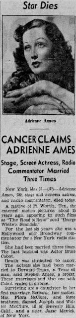 Adrienne Ames Died